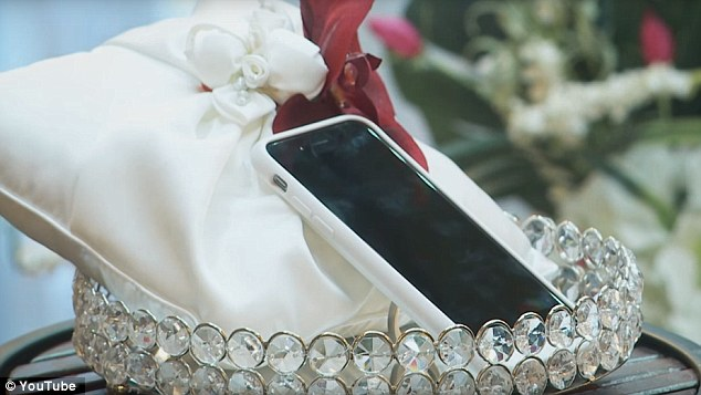 Aaron Chervenak, 34, of Los Angeles married his SMARTPHONE to prove his love