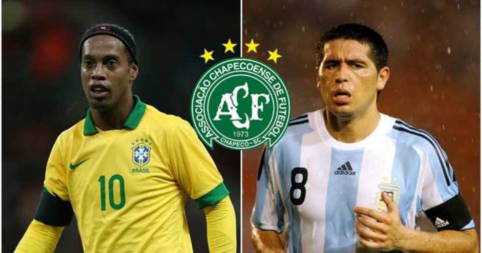 Chapecoense tragedy: Ronaldinho, Riquelme