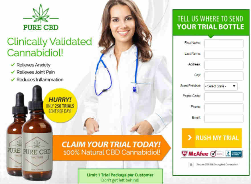 Pure CBD Oil Free Sample Bottle - Claim Your Free CBD Oil