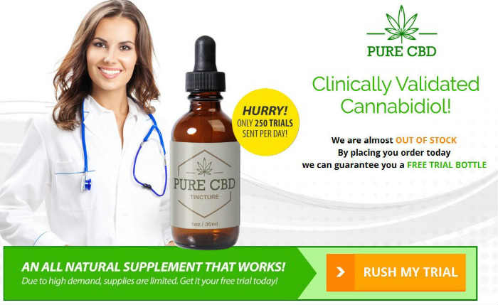 Pure CBD Oil Free Sample Bottle