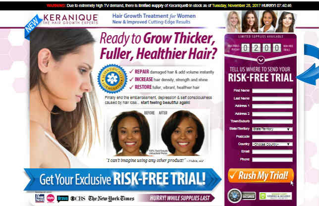 Keranique Risk Free Trial