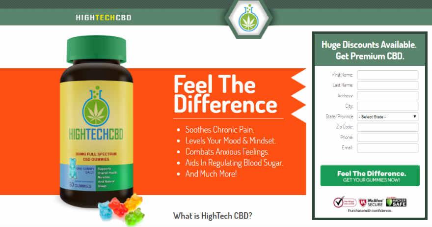 HighTech CBD Gummies , Cannabinoid Plus Review