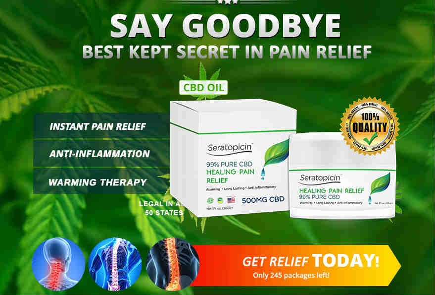 Seralab CBD Oil cream, Seratopocin cbd oil cream