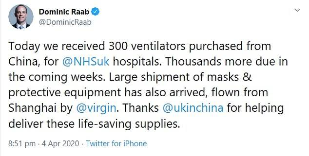 Chinese ventilators sent to British hospitals would harm and even KILL patients if they are ever used, Doctors say